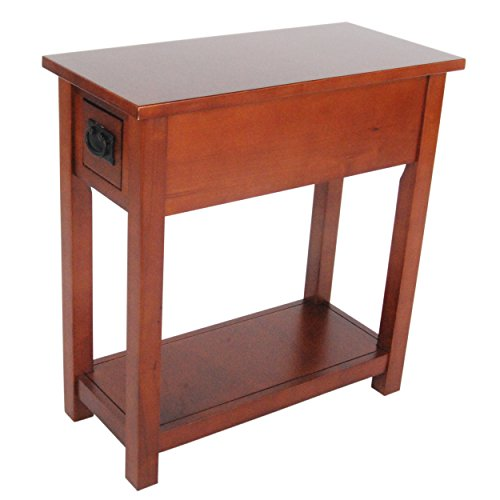 Drop Drawer End Table (Alaterre Artisan Chair Side Table, Cherry)