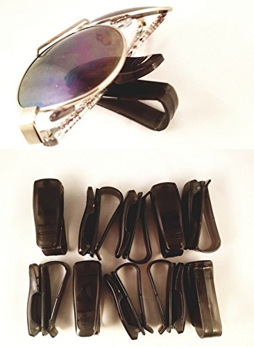 Frame Amo Black Sun Visor Eyeglass Sunglass Holder Clip for Cars and Trucks, - Sunglasses Amos