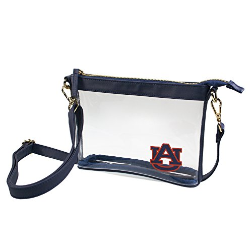 Auburn University Tigers Capri Designs Clearly Fashion Licensed Clear Small Crossbody Meets Stadium (Tigers Pvc Clutch)