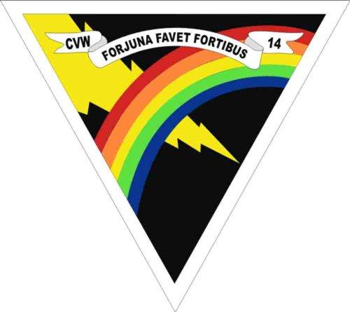 Carrier Air Wing (MilitaryBest US Navy Carrier Air Wing Fourteen CVW14 Decal Sticker 3.8