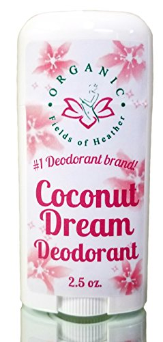 Organic Deodorant   COCONUT DREAM SCENT   Healthy Botanically Infused Ingredients   2.5 oz