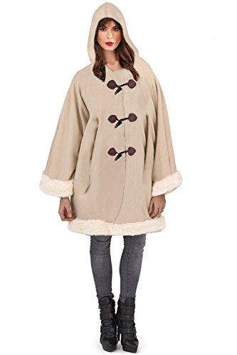 Loungeable Boutique - Abrigo - para mujer Aran Brown