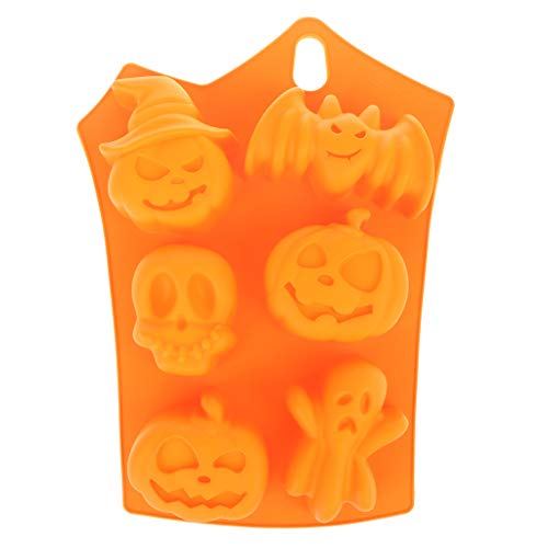 Dabixx Halloween DIY Pumpkin Silicon Baking Mold Cake Cookie Jelly Kitchen Pastry ToolsOrange -