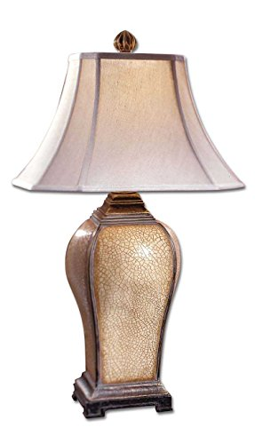 Uttermost 27093, Baron Transitional Table Lamp Baron Square Table Lamp