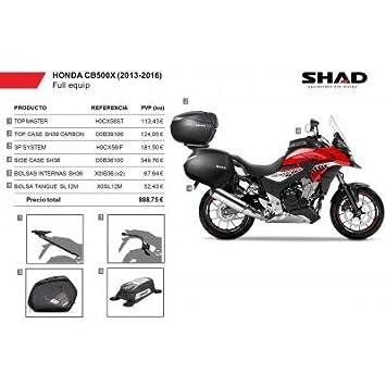 SHAD - KIT-SHAD-2/214 : Maletas laterales, baul, soportes, bolsa deposito KIT HONDA CB500X (13-16): Amazon.es: Coche y moto