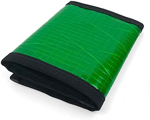 Flowfold Traveler Recycled Sailcloth Trifold Slim Front Pocket Wallet - Light Weight - Made in USA