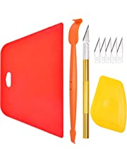 AHCHAY Wallpaper Smoothing Tool Kit: Big Squeegee, Edge Trim Vinyl Wrap Stick, Carving Utility Knife, Small Scraper for Window Film Vinyl Weed