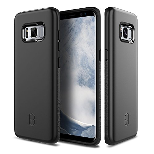 Samsung Galaxy S8 Plus Case, Patchworks ITG Level Case Black - Military Grade Certified Drop Protection, Impact Disperse Technology System for Samsung Galaxy S8 Plus