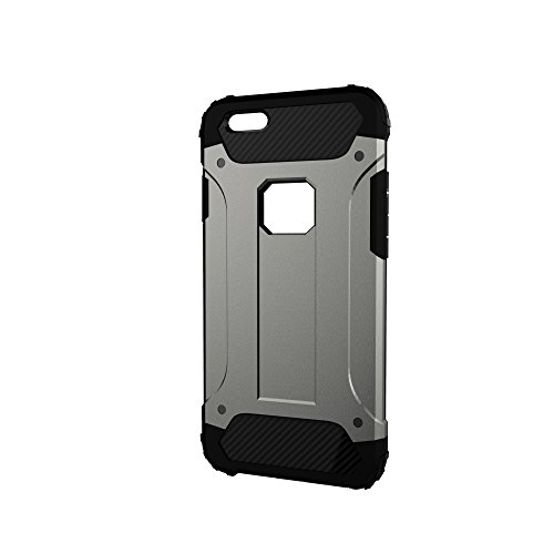 "iPhone 6 Plus Case, Marvotek iPhone 6s Plus Case Defender Case Dual Layers 5.5"" Shock Absorbing Case Light Grey"