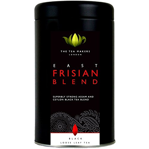 The Tea Makers of London East Frisian Bop Black Loose Leaf Tea Blend In Caddy 125 G