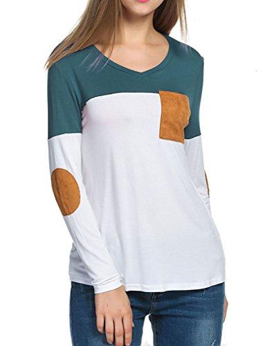 Naggoo Casual Shirts Patchwork Contrast