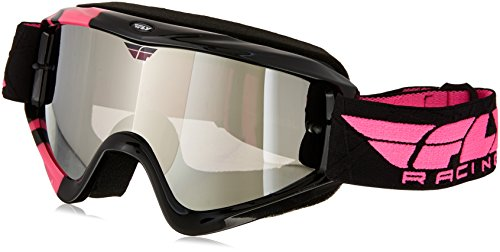 Fly Racing 37-3022 not applicable Zone Goggle (Black/Pink/Chrome/Smoke, One Size)