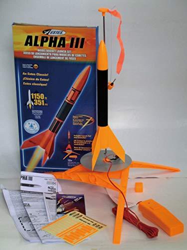 モデルロケットスターターセット エンジン付 アルファⅢ(日本モデルロケット協会認証)   B07MXBDJFL