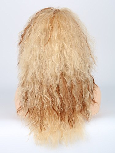 Men or Women 80s Clothes Fashion Wig Rocker Mullet Metal Halloween Costume Wig Blonde Curly by Toposplay (Image #4)