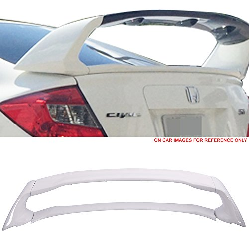 - Pre-painted Trunk Spoiler Fits 2012-2015 Honda Civic | Mugen Style ABS Painted #NH578 Taffeta White Trunk Boot Lip Spoiler Wing Deck Lid Other Color Available By IKON MOTORSPORTS | 2013 2014