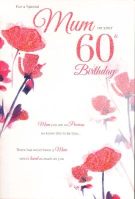 Mum 60th birthday birthday card amazon kitchen home mum 60th birthday birthday card bookmarktalkfo Image collections