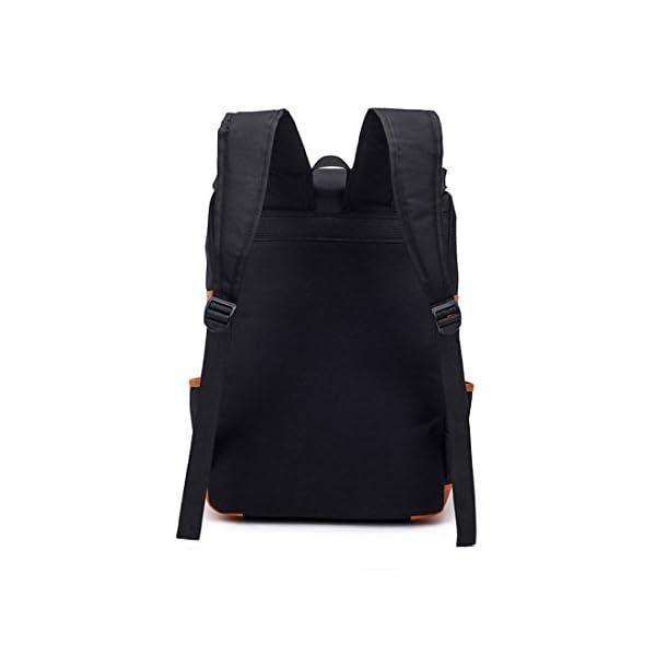 Yizhixin Travel Shoulder Bag Stylish Oxford Cloth Outdoors Backpack For Men Women Black