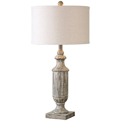 Uttermost 26196-1 Agliano Aged Dark Pecan Lamp, Brown