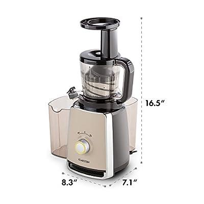 KLARSTEIN Sweetheart Slow Masticating Juicer • 150W • Fruit & Vegetable Juice Extractor