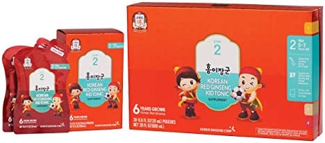 KGC Cheong Kwan Jang Kids Tonic Organic Korean Red Ginseng Tonic for Kids Age 5 To 7, Health and Immune System Enhancement – Step 2