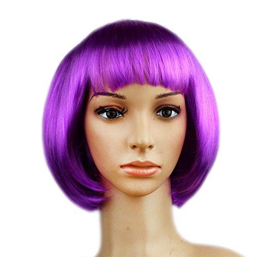 Bang Di Copricapo Bobo Accurato Vestire Decorazione Usura Etbotu Travestimento Per Colorato Capelli Viola Parrucca Il TqnEIfE