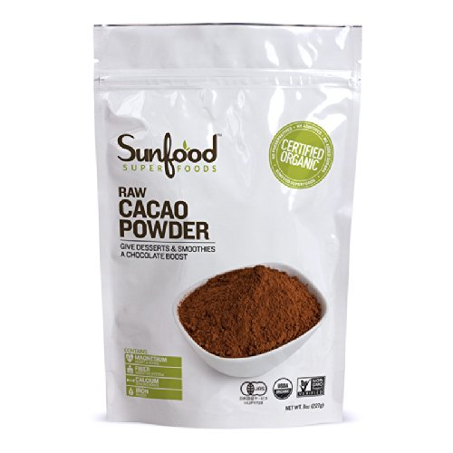 Sunfood Sunfood Cacao (chocolat) Powder (Raw, biologique), 8-once Sac