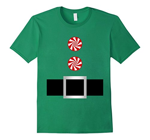 Mens Candy Cane Santa Elf Belt Costume Outfit Jacket Shirt Medium Kelly Green (Teenage Girl Halloween Outfit Ideas)