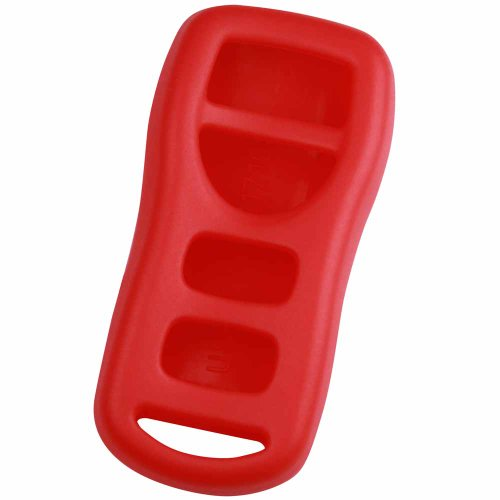 KeyGuardz Red Rubber Keyless Entry Remote Key Fob Skin Cover Protector (Altima Computer Nissan)