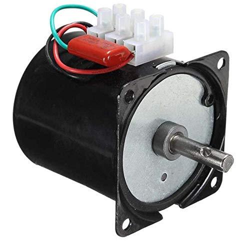 Fetcus 110VAC /25w/2.5 rpm-100rpm Low Noise Gearbox Electric Motor 50HZ 60HZ High Torque Low Speed AC synchronous motor 60KTYZ - (Speed: 110v 25w 30rpm)