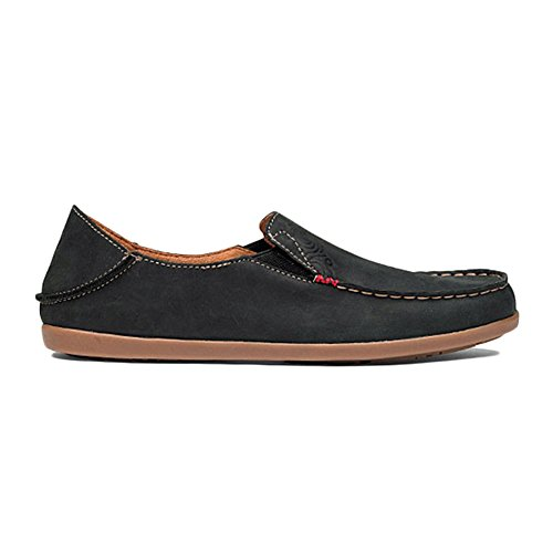 Olukai, Damen Mokassins Black / Tan