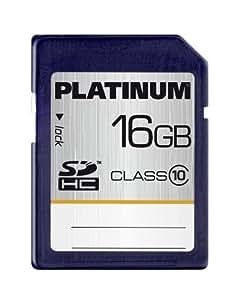 Platinum - Tarjeta de memoria SDHC de 16 GB (clase 10)