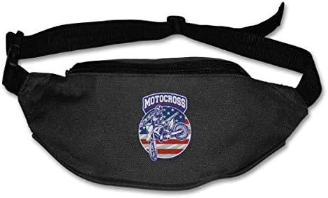 アメリカのモトクロスユニセックスアウトドアファニーパックバッグベルトバッグスポーツウエストパック