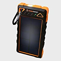 8000mAh Solar Portable Charger Powerbank With LED Flashlight - IP54 Dustproof/Shockproof/Rainproof - 180mAh high efficiency solar panel