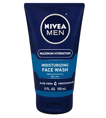 Nivea Men Max Hydration Moisturizing Face Wash, 5 Ounces (2 Packs)
