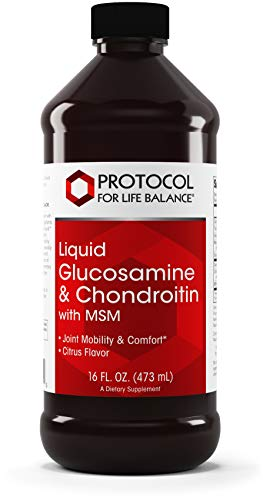 Protocol For Life Balance – Liquid Glucosamine & Chondroitin with MSM – Supports Joint Mobility & Comfort in Easy to Swallow Liquid Format – Citrus Flavor – 16 fl. oz. (473 mL) For Sale