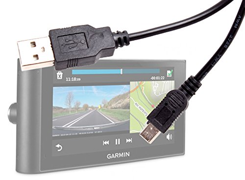 DURAGADGET Mini USB to USB 2.0 Data Transfer, Sync & Charge Replacement Cable for The Garmin nuvi 67 LMT, nuvi 68 LMT, Garmin dezlCam LMT-D, nuviCam LMT-D & The Camper 660 LMT-D ()