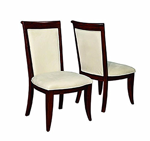 - Alyssa Upholstered Side Chairs with Flared Feet Light Tan and Dark Cognac (Set of 2)