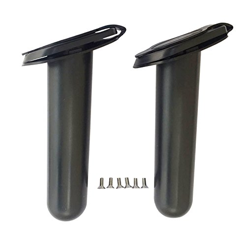 2 pcs Plastic Flush Mount Fishing Boat Rod Holder and Cap Cover