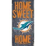 """Miami Dolphins Home Sweet Home Wood Sign 12""""x6"""""""