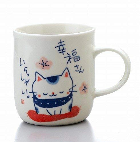 Matsumoto-Toki Fortune Welcoming Cat Pottery Mug Cup Good Fortune K7133