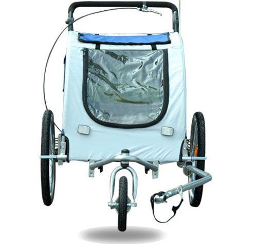 Aosom Elite II Pet Dog Bike Bicycle Trailer Stroller Jogger w/ Suspension - Blue by Aosom (Image #5)