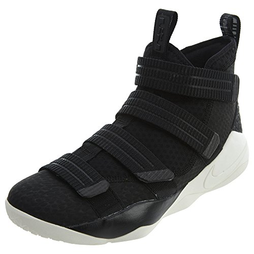 Nike Lebron Soldier 10 Mannen Basketbal Schoenen Zwart / Racer Blauw / Zeil