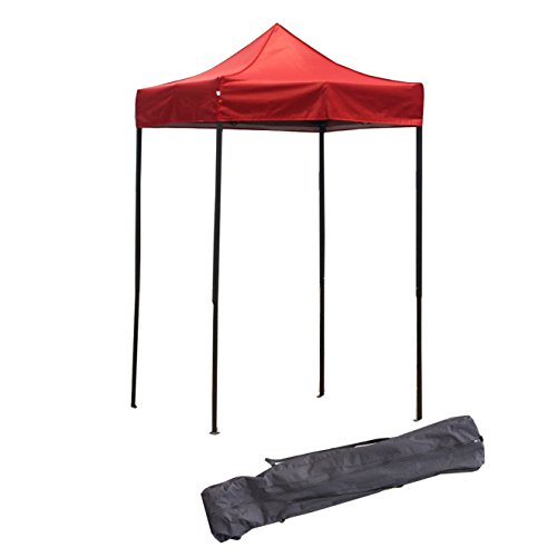 American Phoenix Canopy Tent 5x5 feet Party Tent Gazebo Canopy Commercial Fair Shelter Car Shelter Wedding Party Easy Pop Up (Red)
