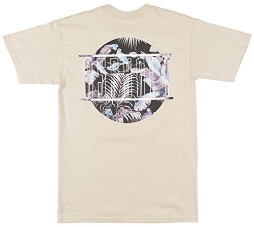 Asphalt Yacht Club Tri Floral Mens T-Shirt In Khaki