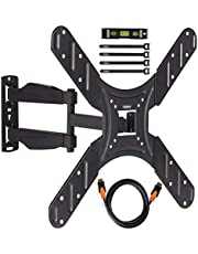 VonHaus 17-56 Inch TV Wall Bracket – Tilt and Swivel Mount for VESA Compatible Screens, 25kg Weight Capacity