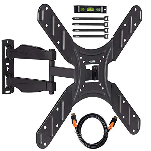 """VonHaus Cantilever TV Bracket for 20 to 50"""" TV with Full Accessories Bundle Includes HDMI Cable, Cable Ties & Spirit Level, Fully Adjustable Tilt Swivel Extending Wall Mount - Max Weight 33 lbs"""