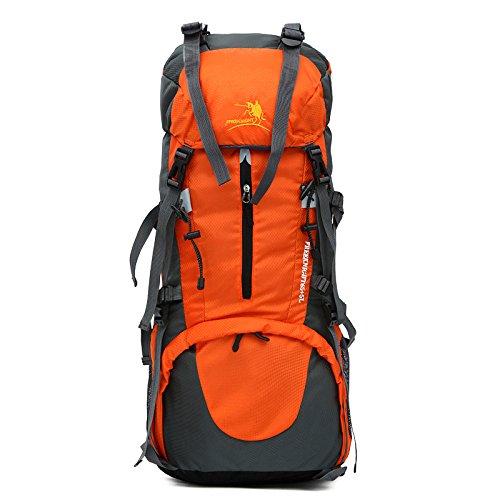 Bergsteigen Bag 65L+5L Outdoor Männer und Frauen Schulter Rucksack große Kapazität Wanderpackage Bergsteigen Taschen , orange
