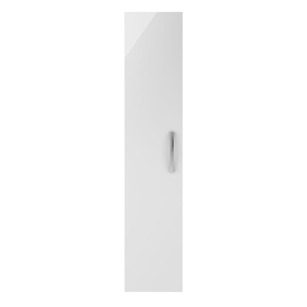 Premier MOE162 Athena Tall Storage Units, Gloss White, 300 mm