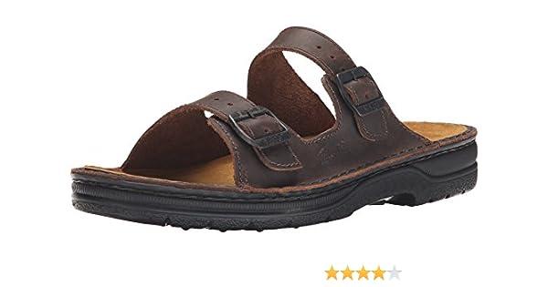 3027a1c8b2cb Naot Men s Mikael Flat Sandal Brown 45 EU 12 M US  Amazon.ca  Shoes    Handbags