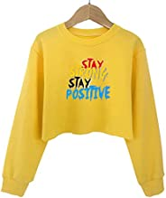 G-Amber Girls Crop Tops Sweatshirts Kids Cute Long Sleeve Printings Fashion Pullover Shirt